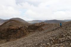 Weg zu einem Aussichtshügel auf das Meradalir