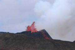 Ausbruch des Vulkankraters am Fagradalsfjall