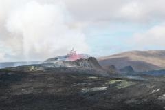 Blick auf den Vulkankrater am Fagradalsfjall