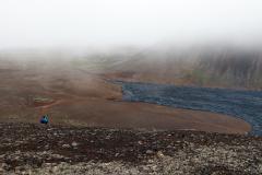 Aufstieg zum Langi und Blick auf das Nátthagi Tal am Fagradalsfjall