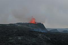 Vulkanausbruch auf der Reykjanes-Halbinsel am Fagradalsfjall