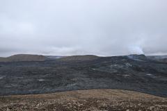 Blick vom Hang des Stori-Hottur auf den Vulkankrater