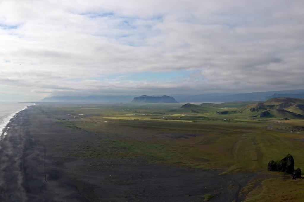 Blick vom Kap Dyrhólaey über Südisland