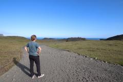 Auf dem Weg zum Aussichtspunkt am Kap Dyrhólaey