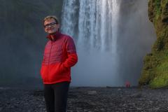 Am Skogafoss auf Island