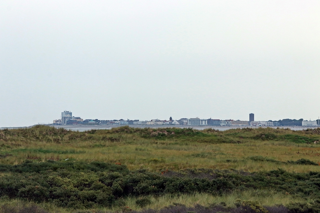 Blick auf Norderney vom Kalfamer am Ostende Juists