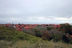 Blick auf die Häuser Juists