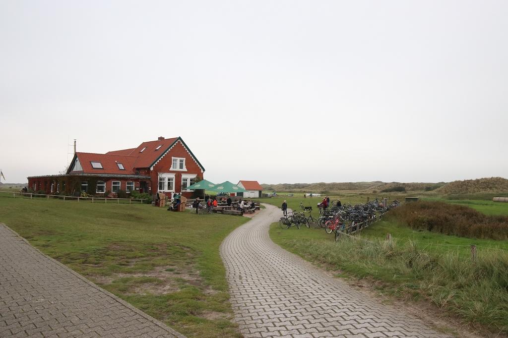 Fahrradtour in den Westen der Insel Juist - Restaurant Domäne Bill