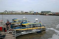 Ankunft mit dem Inselexpress in Norddeich-Mole
