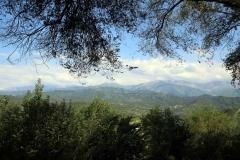Blick auf die Berge in Almaty