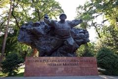 Denkmal für den Soldaten Iwan Wassiljewitsch Panfilow und der 28 Garde-Infanteristen