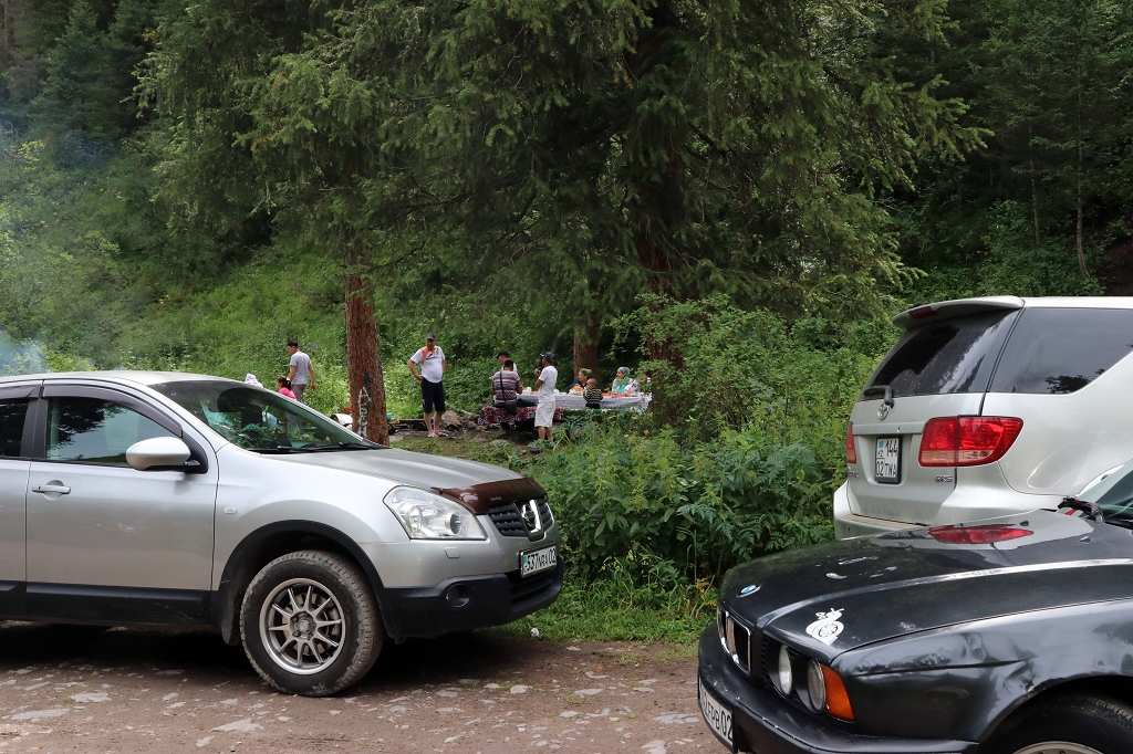 Parkplatz Batan im Turgen-Tal