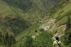Blick auf die Berge des Turgen-Tals