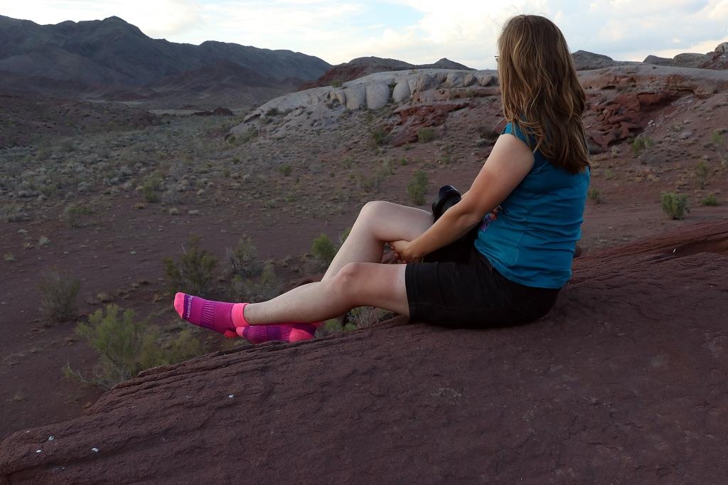 Auch die pinken Wrightsocks machen eine guten Figur in den Katutau-Bergen