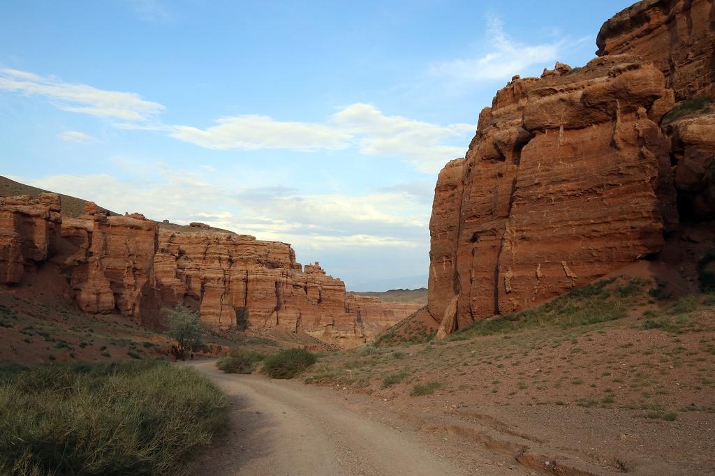Rückweg durch den Charyn-Canyon