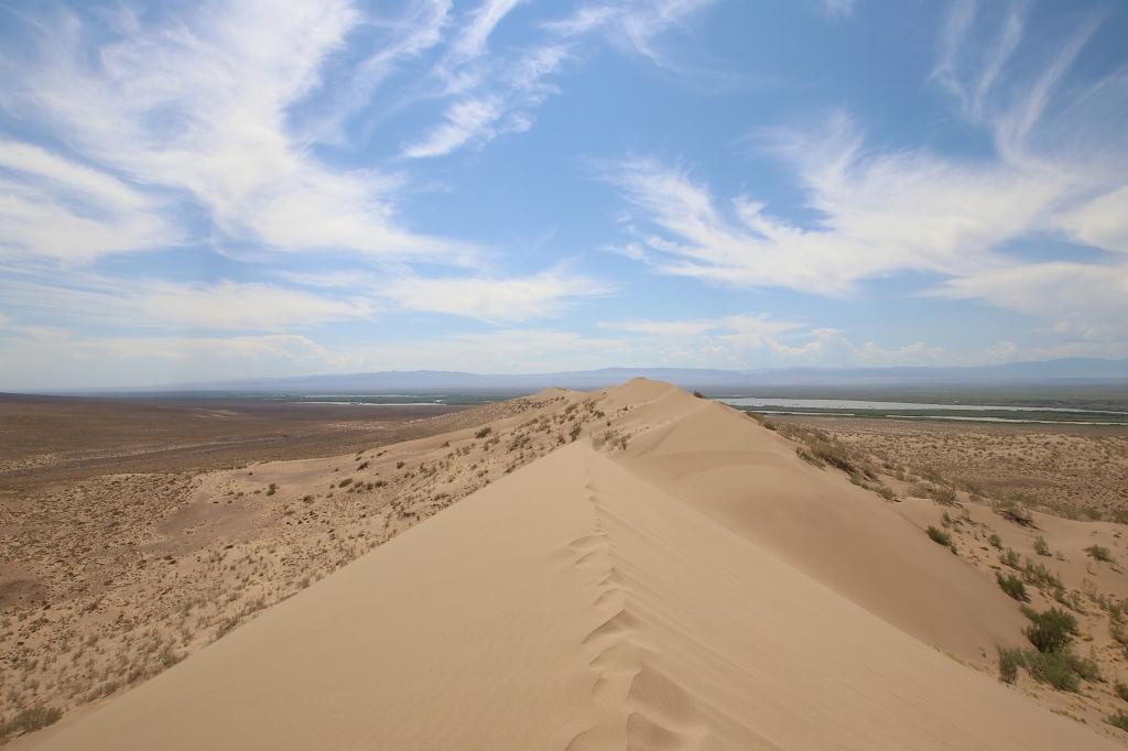 Auf dem höchsten Punkt der Singing Dune