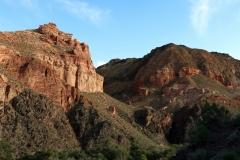 Am Ende des Scharyn Canyons