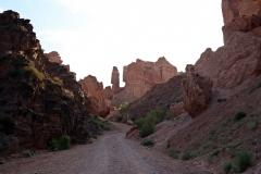Rückweg durch den Scharyn-Canyon
