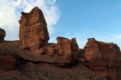 Aufstieg zum Aussichtspunkt im Scharyn-Canyon