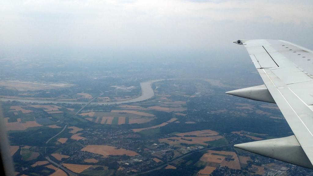 Landeanflug Flughafen Düsseldorf