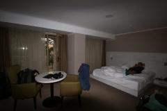 Unser Zimmer im B-Hotel Bishkek