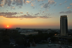 Sonnenuntergang in Almaty