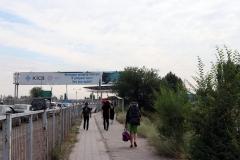 Grenzübergang von Kirgistan nach Kasachstan