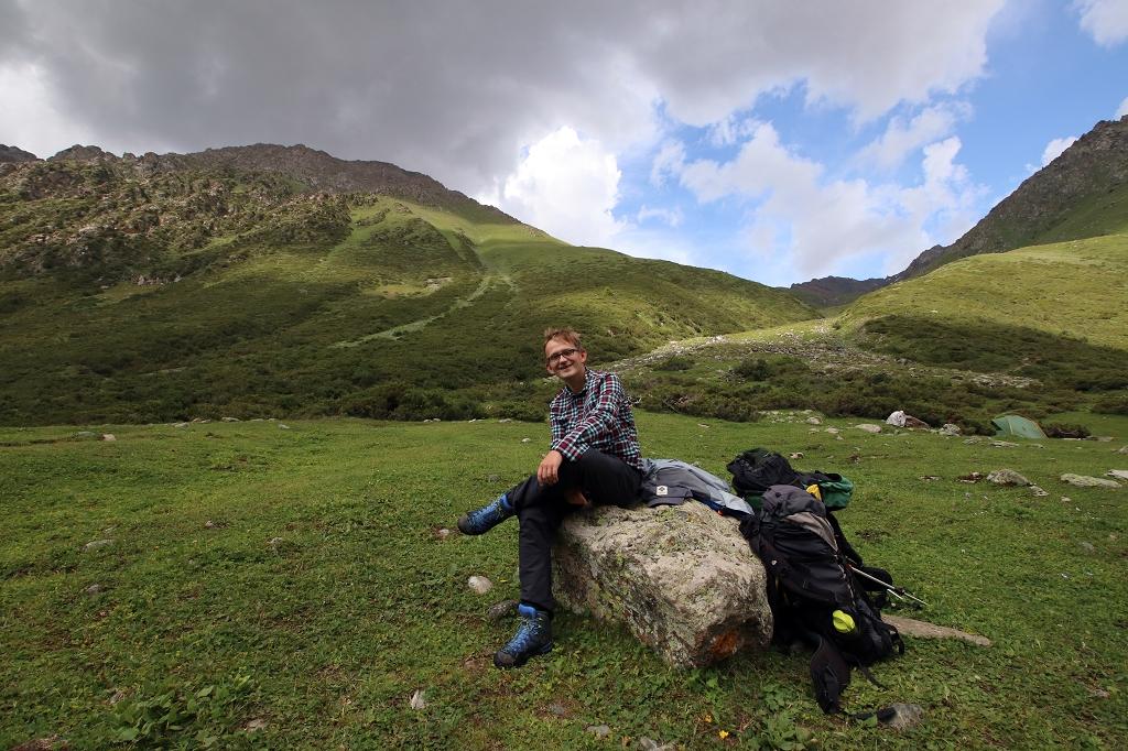 Am Eco-Track Camp in den Tien Shan Bergen