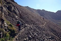 Leicht bergauf zum Alakol-Pass
