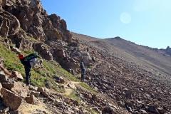 Kurz vorm finalen Anstieg zum Alakol-Pass