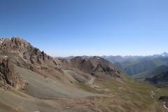 Blick auf das Altyn-Araschan-Tal vom Ala-Kol-Pass