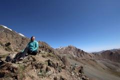 Pause auf 3.906 Metern Höhe