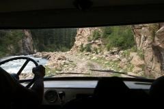Fahrt hinab nach Ak-Suu im UAZ-452