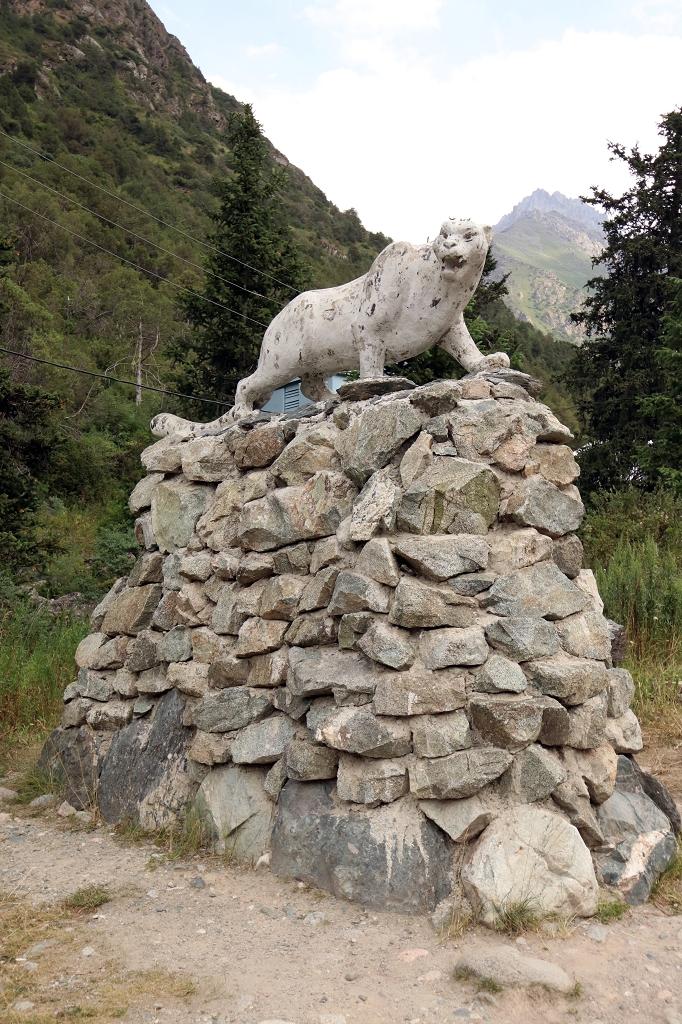 Schneeleopard in Kirgistan - leider nur als Statue