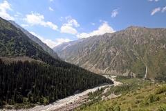 Blick zurück in das Ala-Archa-Tal