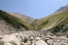Trockenes Flussbett