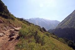 Weg zum Tepshi Plateau im Ala-Archa-Nationalpark