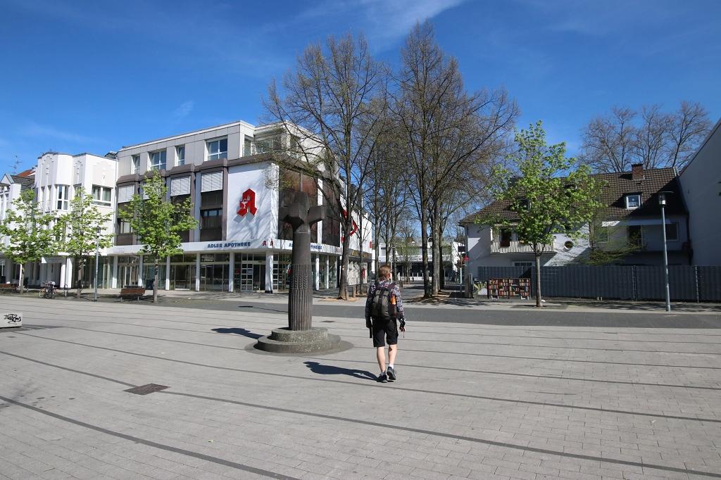 In der Innenstadt von Hennef