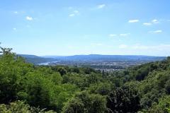 Rheinsteig Etappe 9: Von Sayn nach Vallendar - Blick in das Rheintal
