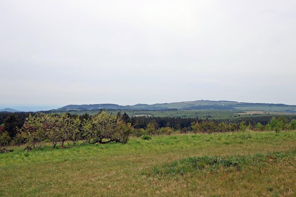 Ausblick vom Heidelstein auf der Extratour Rotes Moor in der Rhön