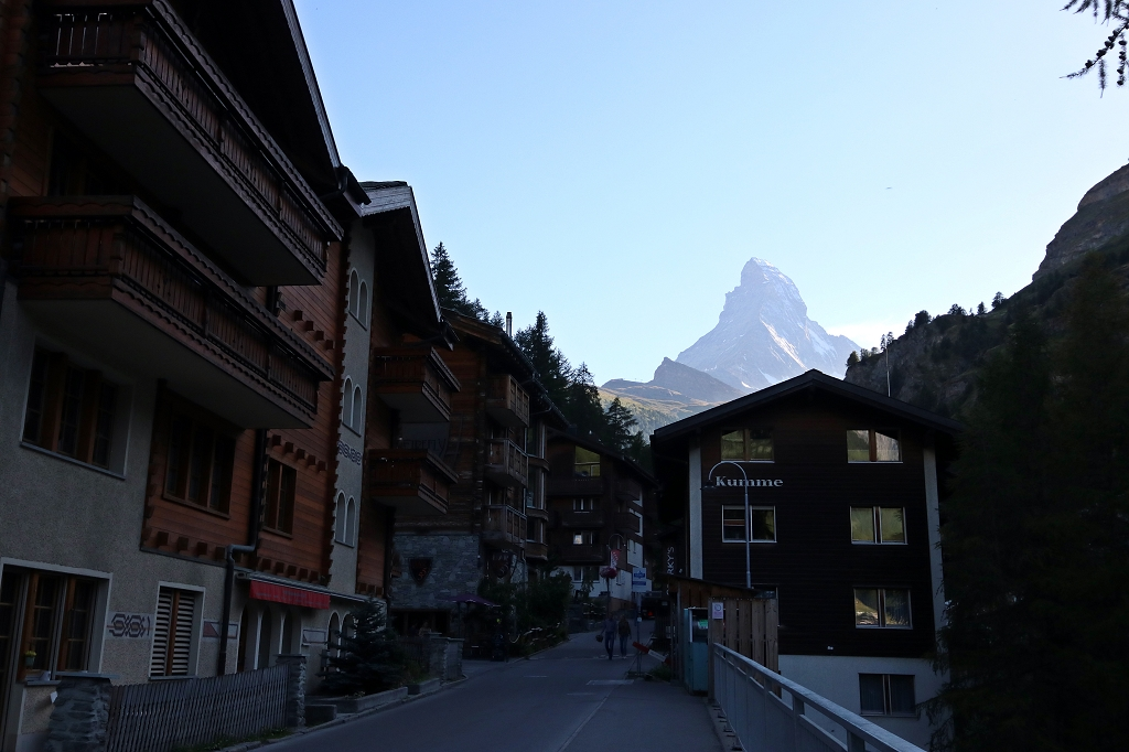 Zermatt und Blick aufs Matterhorn