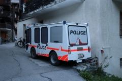 Polizeiauto in Zermatt