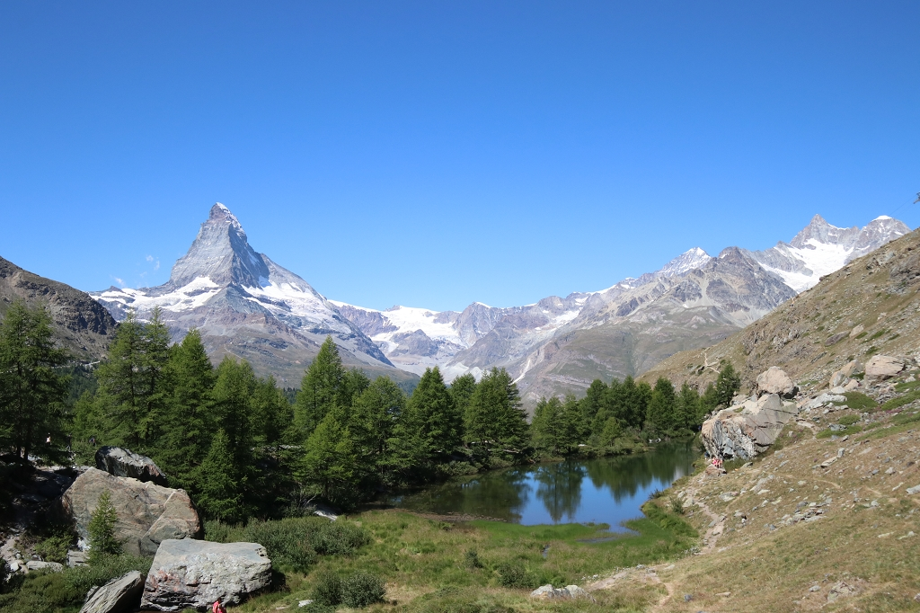Grindjisee auf der Fünf-Seen-Runde in Zermatt