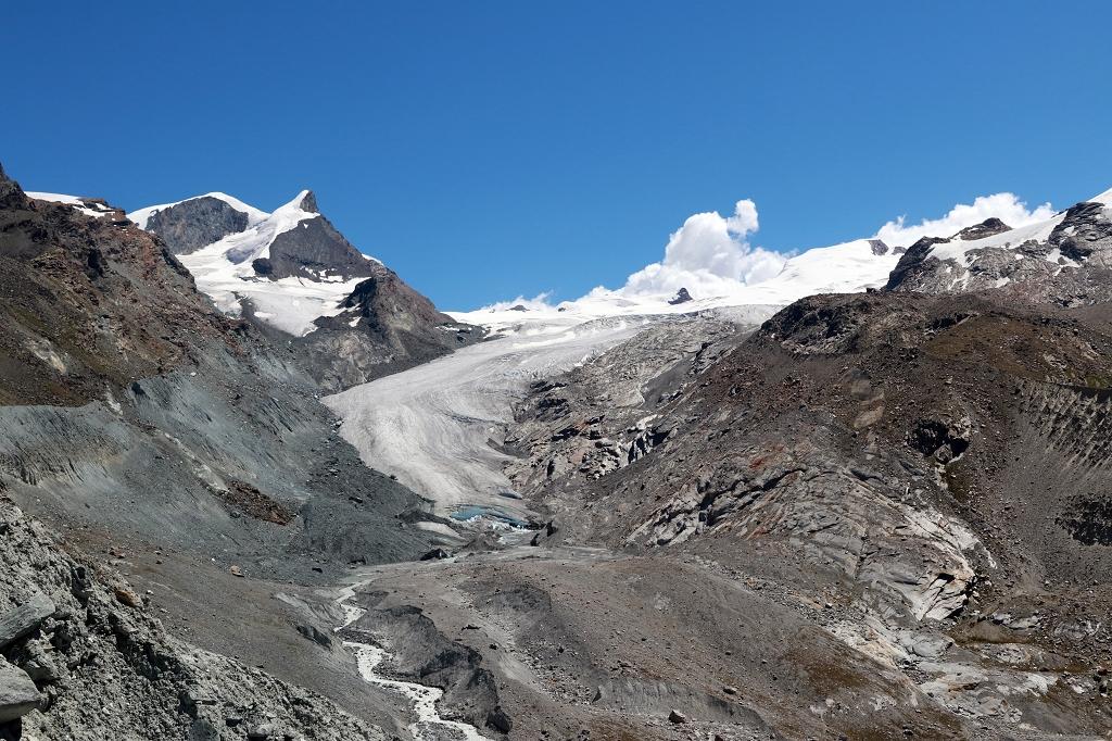 Findelgletscher auf der Fünf-Seen-Runde in Zermatt