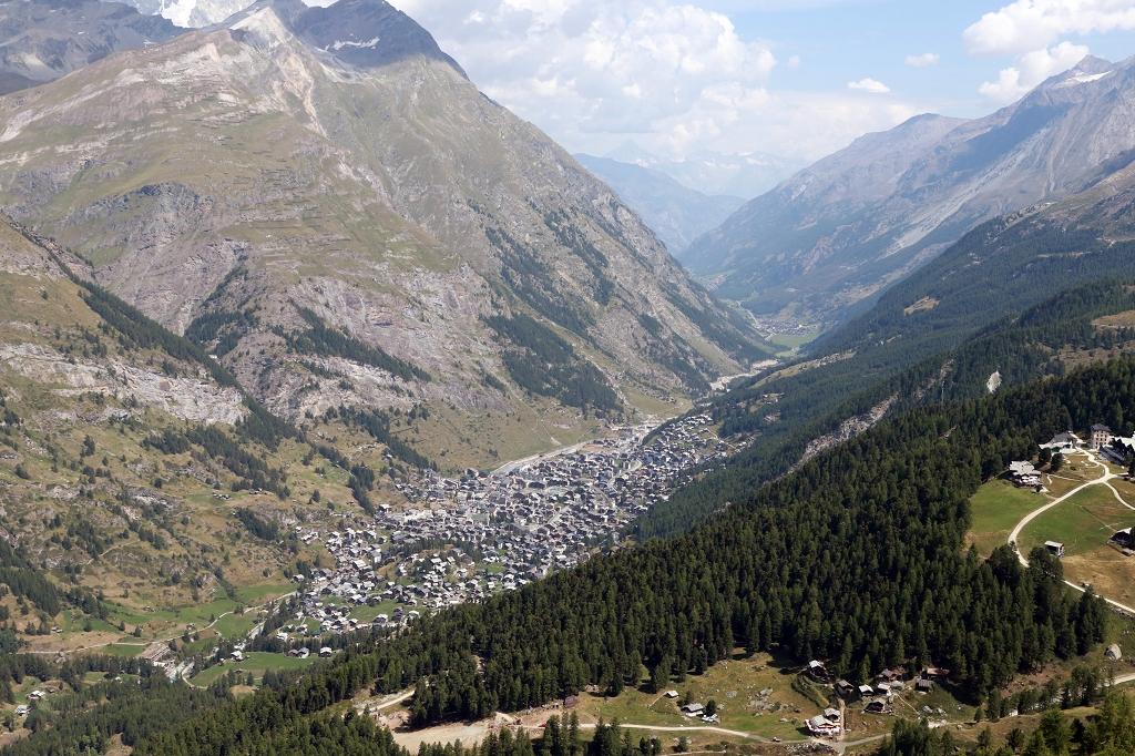Wanderung zum Gornergrat - Blick auf Zermatt