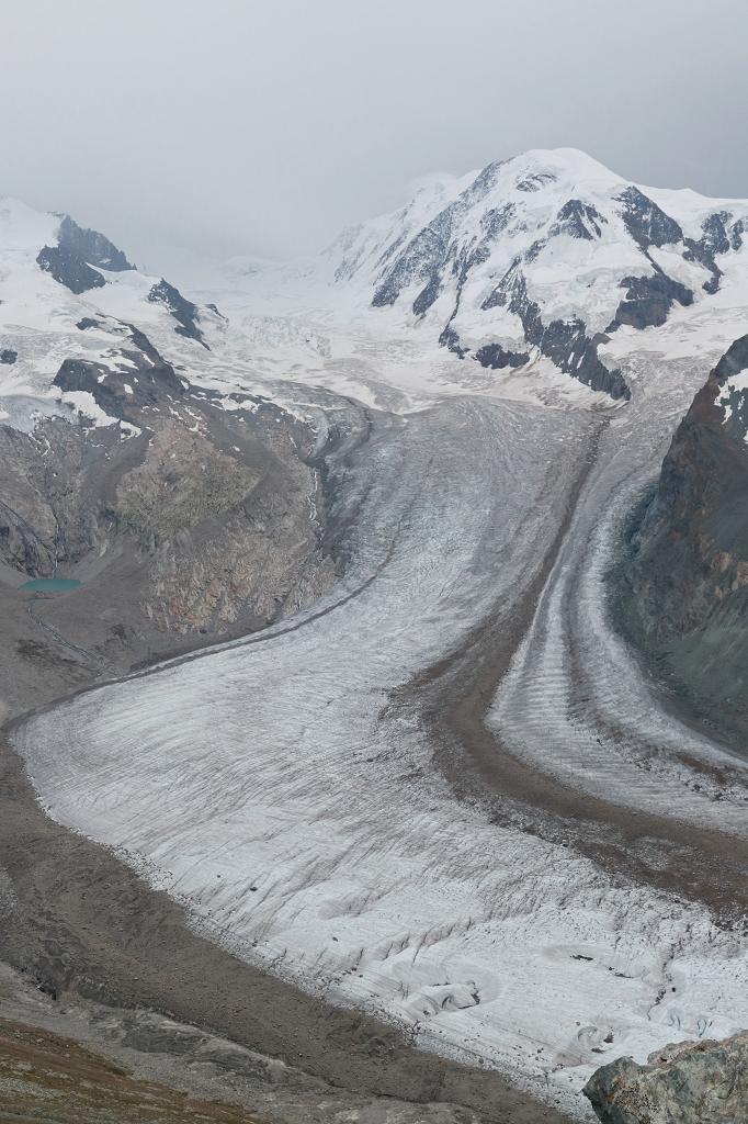 Gornergletscher und Gipfel des Liskamm