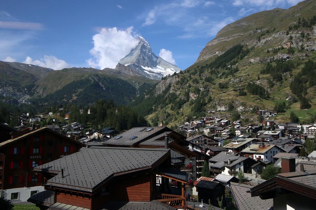 Matterhorn - heute mal mit ein paar Wolken