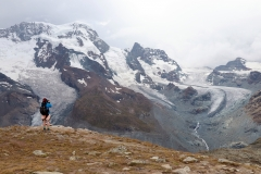 Theodulgletscher, Triftjigletscher und Breithorngletscher