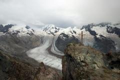 Wanderung zum Gornergrat - Blick auf den Gornergletscher