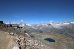 Matterhorn mit Schönwetterwolken